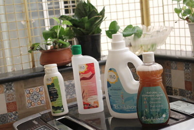 Home Care Products - Combo 2 [2 * 1L Detergent, 2* 500 ml Floor Cleaner, 2*250 ml Dish Wash, 2*200 ml Hand wash]