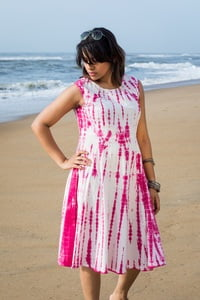 Roja - Princess cut Shibori Dress